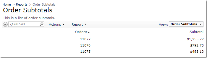 Draft orders not displayed on Order Subtotals report.