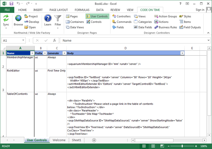 Code On Time: COT Tools for Excel